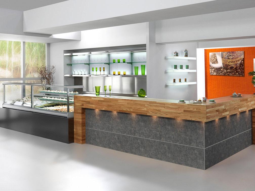Oscartek Counter Systems Food Service Front Back Bar