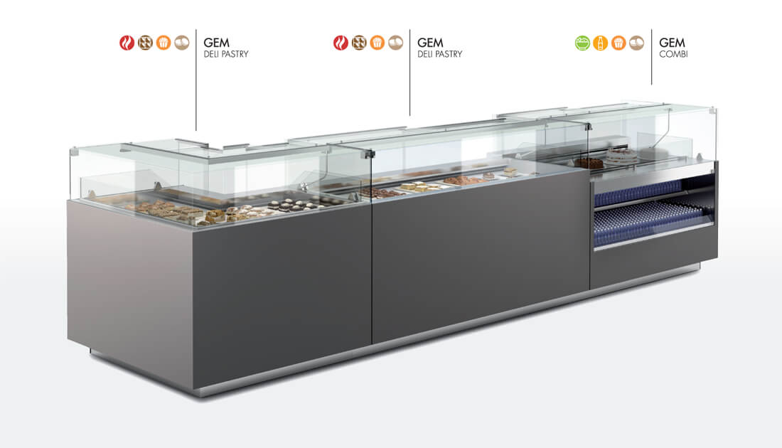 Oscartek Gem Refrigerated Pastry And Chocolate Display Case
