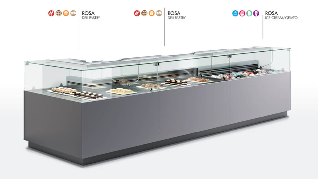 Oscartek Rosa Deli Pastry Amp Ice Cream Display Case